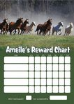 Personalised Horses Reward Chart (adding photo option available)
